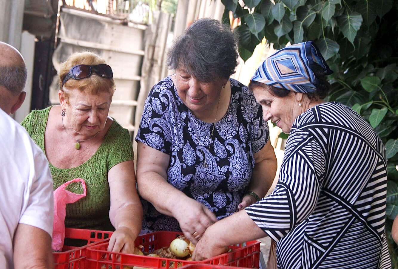 Two elderly day centers servicing over 100 guests, one in five being a holocaust survivor.